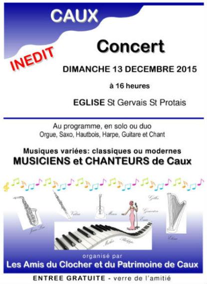 Caux concert église