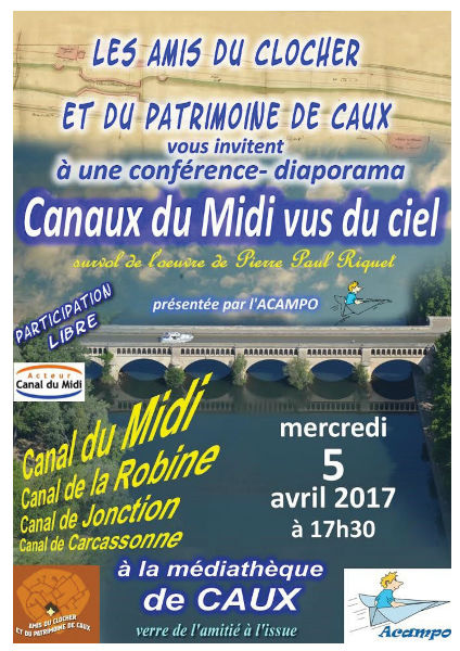 Caux conférence Canal du midi ACAMPO