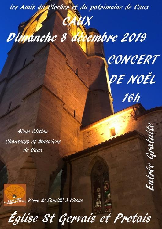 Caux concert église St Gervais-St Protais