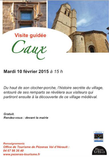 Caux visite du village OT Pézenas