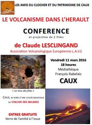 conférence Caux Lesclingand volcans