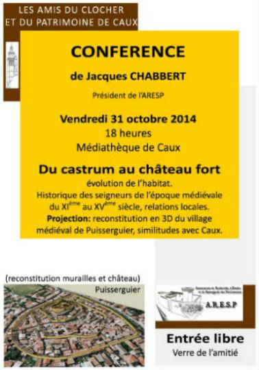 conférence J Chabbert - du castrum au château fort