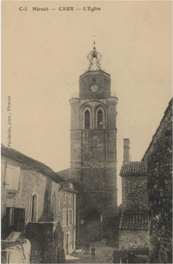 carte postale caux clocher