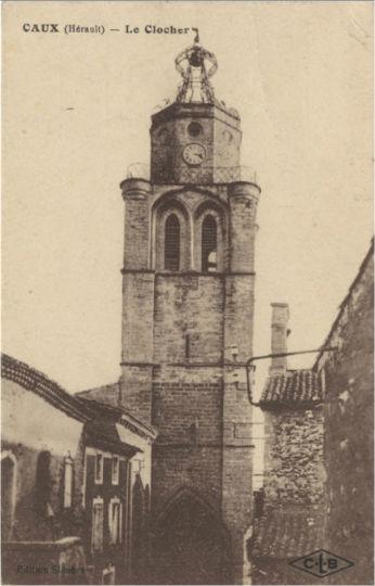 carte postale gare caux clocher