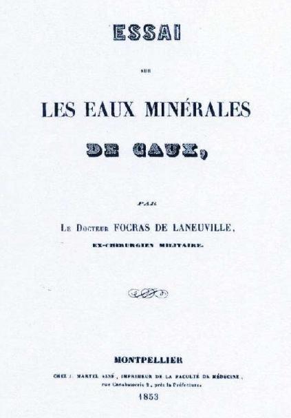 eaux minérales de Caux - Focras de Laneuville - 1853