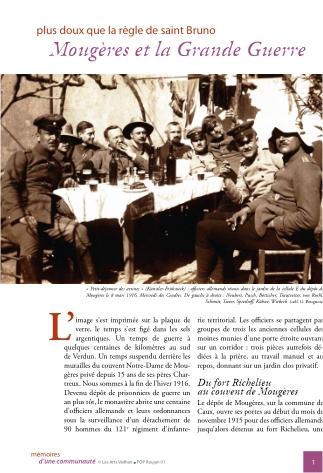 Caux Mougères et la Grande Guerre