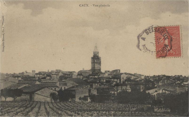carte postale caux vue générale